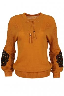 Дамски пуловер 123-8 горчица