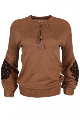 Дамски пуловер 123-8 капучино