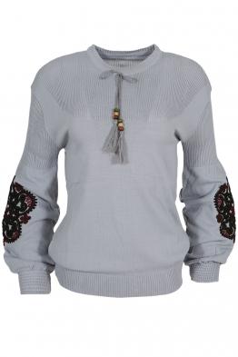 Дамски пуловер 123-8 сив