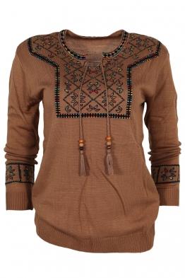 Дамски пуловер 136-8 капучино