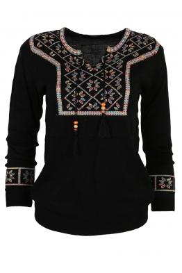 Дамски пуловер 136-8 черен