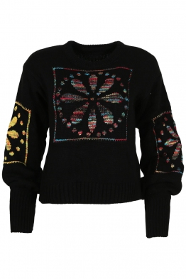 Дамски пуловер 1509-11 черен