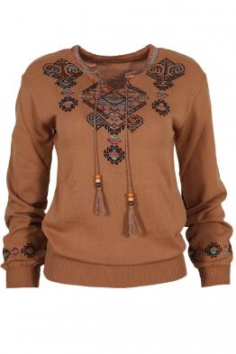 Дамски пуловер 169-8 капучино