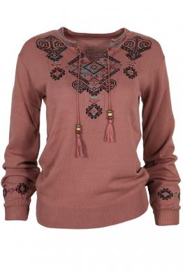 Дамски пуловер 169-8 пепел от рози