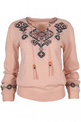 Дамски пуловер 169-8 розов