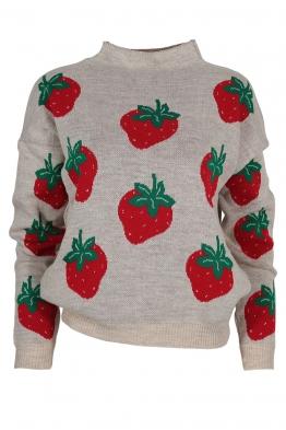 Дамски пуловер 6009-85 бежов