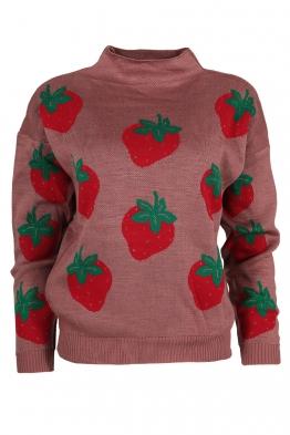 Дамски пуловер 6009-85 пепел от рози