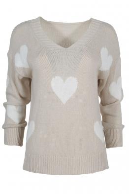 Дамски пуловер ARINA-013 бежов