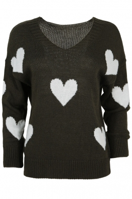 Дамски пуловер ARINA-013 каки