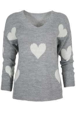 Дамски пуловер ARINA-013 сив