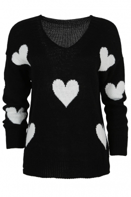 Дамски пуловер ARINA-013 черен