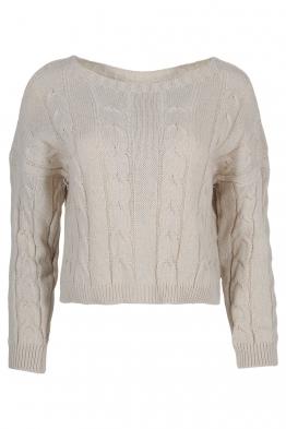 Дамски пуловер LUANA-115 бежов