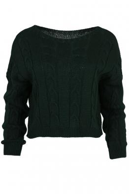 Дамски пуловер LUANA-115 зелен