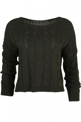 Дамски пуловер LUANA-115 каки