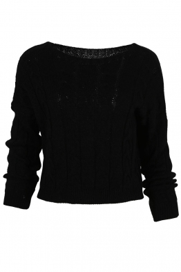 Дамски пуловер LUANA-115 черен