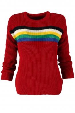 Дамски пуловер МАЙН червен
