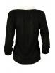 Дамски пуловер с яка Вижън B-1 черен