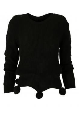 Дамски пуловер 442 с помпони
