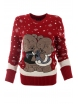 Дамски пуловер Christmas А-1 червен