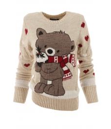 Дамски пуловер Christmas А-2 бежов