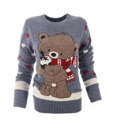 Дамски пуловер Christmas А-2 син