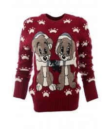 Дамски пуловер Christmas А-3 червен