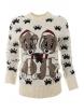 Дамски пуловер Christmas А-3 бял