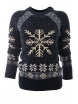 Дамски пуловер Christmas А-4 тъмно син