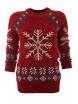 Дамски пуловер Christmas А-4 червен
