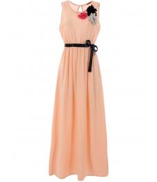 Дълга рокля РЕГИНА пудра