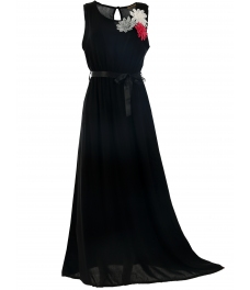 Дълга рокля РЕГИНА черна