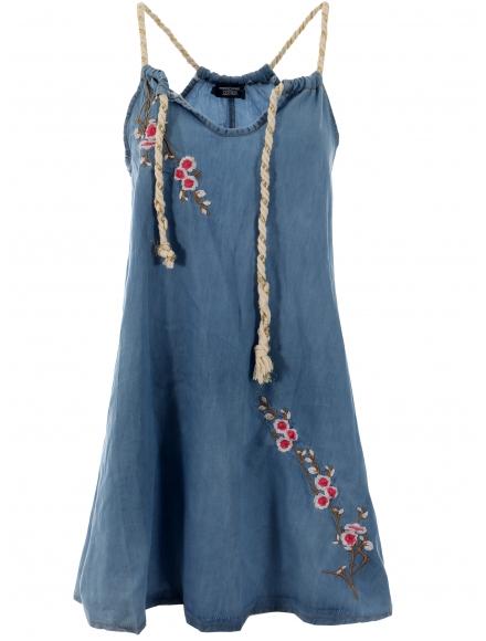 Дънкова къса рокля АЛВЕРА