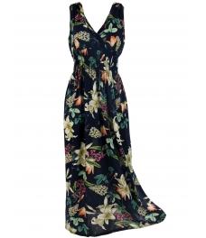 Дълга рокля на цветя БЕТИ А-1