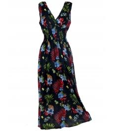 Дълга рокля на цветя БЕТИ А-2