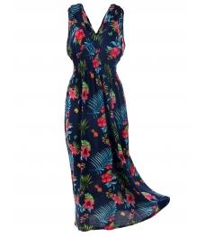 Дълга рокля на цветя БЕТИ А-3