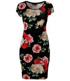 Къса  рокля на цветя КАМЕЙ