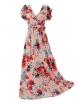 Дълга рокля на цветя КАРОЛИН А-2