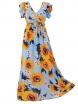Дълга рокля на цветя КАРОЛИН А-1