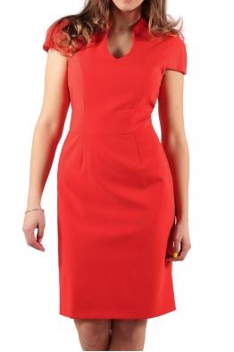Елегантна рокля Шарлот червена