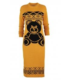 Плетена рокля BEAR горчица
