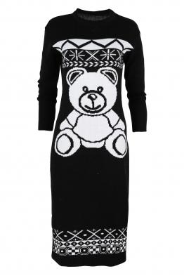 Плетена рокля BEAR черна