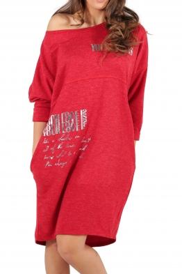 Свободна дамска рокля CAPRICE червена
