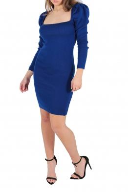 Къса рокля АНЕЛ кралско синя