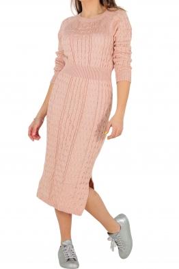 Плетена рокля Опра 308 розова