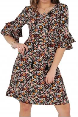 Къса рокля на цветя SELEN A-1