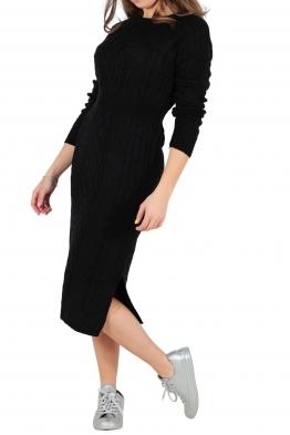 Плетена рокля 308 черна