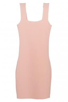 Къса рокля  KONSTANS бледо розова