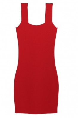 Къса рокля  KONSTANS червена