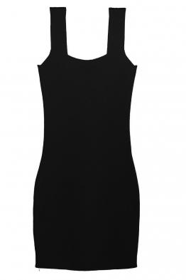 Къса рокля  KONSTANS черна
