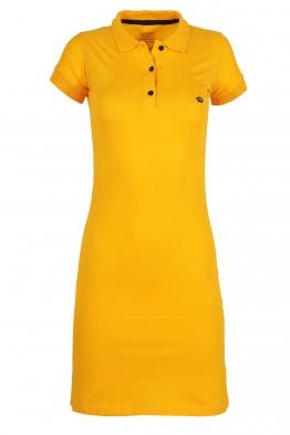 Къса рокля МОР жълта